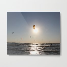Windsurfing in Tel Aviv Metal Print
