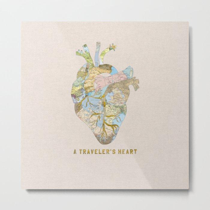 A Traveler's Heart Metal Print