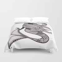 mermaid Duvet Covers featuring Mermaid by Laura Maxwell