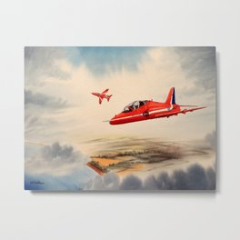 BAe Hawk Aircraft The Red Arrows Metal Print