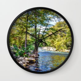 Guadalupe River - Gruene Texas Wall Clock