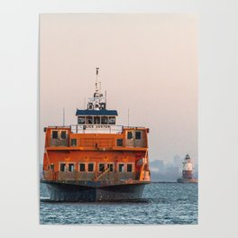 Lighthouse & Staten Island Ferry Poster