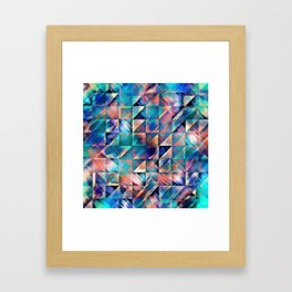 Textural Reflections of Turquoise Framed Art Print