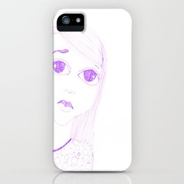 purple sadness1 iPhone Case