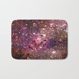 Galaxy : Eagle Nebula Mauve Burgundy Purple Gold Bath Mat