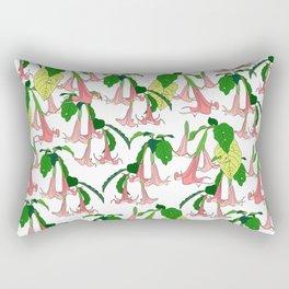 Angels Trumpet Botanical Garden Rectangular Pillow