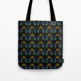 Black Wheat Floral Tote Bag