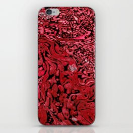RED MARBLE iPhone Skin