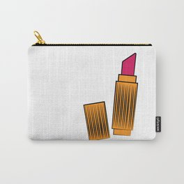 Gold and coral lipstick Carry-All Pouch