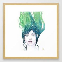 Mind Patterns II: Circuits Framed Art Print