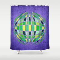 globe Shower Curtains featuring globe by Katilinova