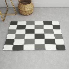 Slate & Gray Checkers / Checkerboard Rug