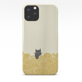 Cat and Yarn iPhone Case