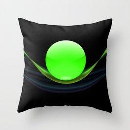 Green Ball Throw Pillow