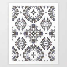 BUTTERFLY Ornamental Art Print
