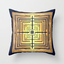 Knowledge Labyrinth Throw Pillow