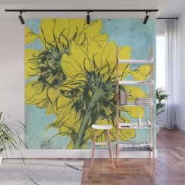 The sunflowers moment Wall Mural