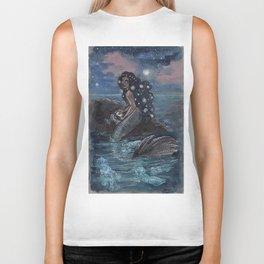 Evening Glow Mermaid and Firefly Squid Biker Tank