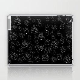 My Neighbour Pattern (Black & White) Laptop & iPad Skin