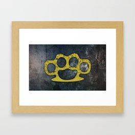 Brass Knuckles Framed Art Print