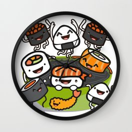 Sushi Party Wall Clock