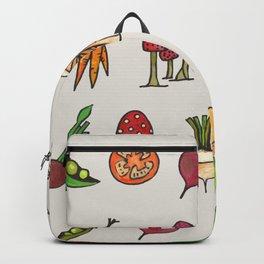 Vegetable Mushroom Fruit Pattern Backpack