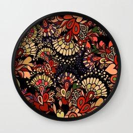 Floral fantasy. Wall Clock