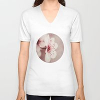 cherry blossom V-neck T-shirts featuring Cherry Blossom by SuzanneCarter