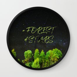 A Forest of Stars Wall Clock