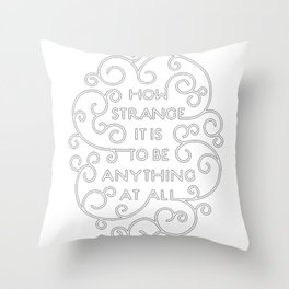 Neutral Milk Hotel - How Strange It Is To Be Anything At All - White Throw Pillow
