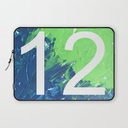 Blue & Green, 12, No. 4 Laptop Sleeve