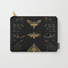 Death Head Moths Night Carry-All Pouch