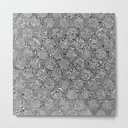 Superwarped Polka Dot Freakout Metal Print