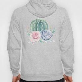 Cactus Rose Succulents Hoody