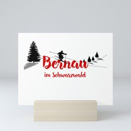 Ski at Bernau im Schwarzwald Mini Art Print