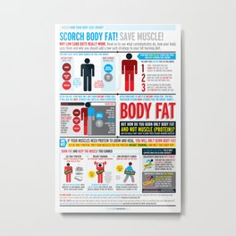 Basics: How your body uses energy  Metal Print