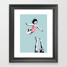 Jump for joy Framed Art Print