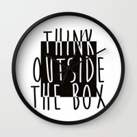 quote Wall Clocks featuring Quote by Motivational