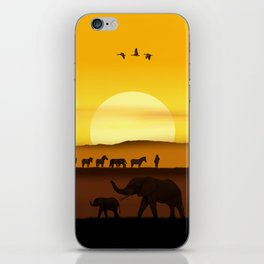 Morning in the African savannah iPhone Skin