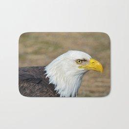 Alaskan Bald_Eagle Profile Bath Mat