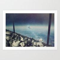 astronaut Art Prints featuring Astronaut by MiraRuido