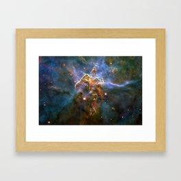 Mystic Mountain (a region in the Carina Nebula)(NASA/ESA Hubble Space Telescope) Framed Art Print