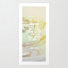 a cup of tea large enough Art Print