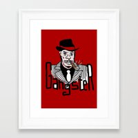 gangster Framed Art Prints featuring Gangster by Logan_J