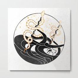 Medusa's Snakes Inktober :: Darlings, Don't Fear Me Metal Print