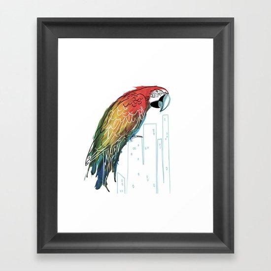 Polly in the City Framed Art Print