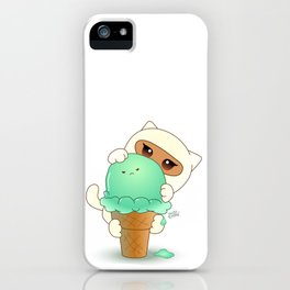 HelloTrilly Grumpy Mint IceCream iPhone Case