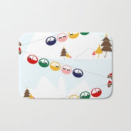 Ski cables Bath Mat