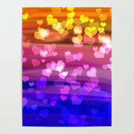 Lovely Hearts, Bokeh Poster
