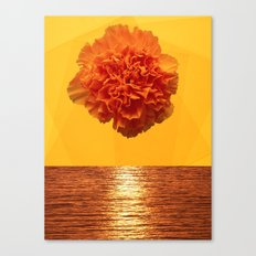 Yellow sunset Canvas Print